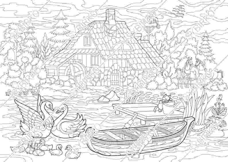farm house coloring pages coloring pages for adults rural countryside house farm farm house pages coloring