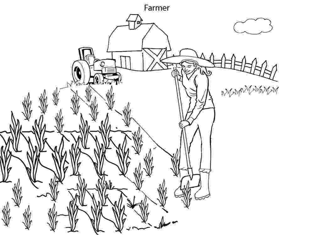 farmer coloring sheet cartoon style coloring page farmer topcoloringpagesnet farmer sheet coloring