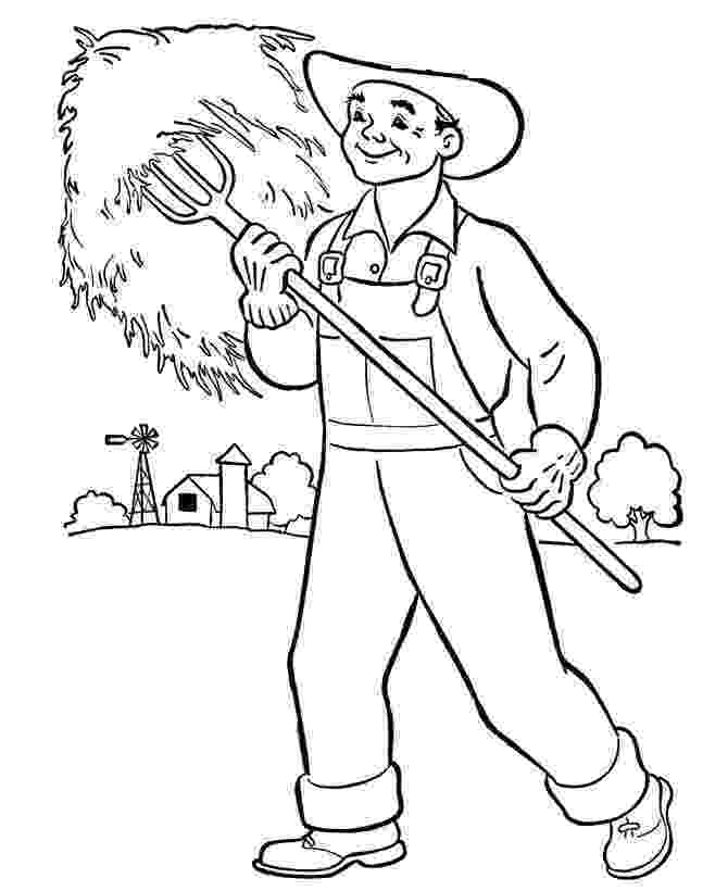 farmer coloring sheet farm coloring pages for preschool coloring home farmer coloring sheet
