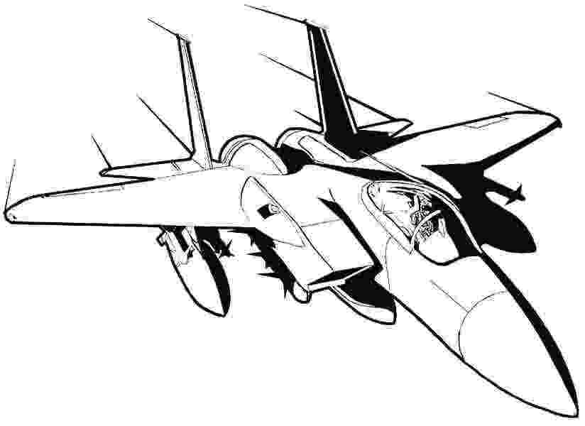 fighter jets coloring pages jet plane drawing at getdrawingscom free for personal pages fighter coloring jets