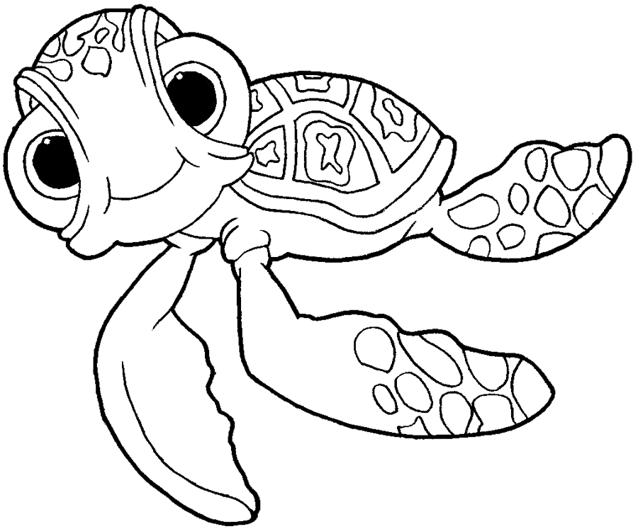 finding nemo coloring page how to draw squirt the turtle from finding nemo with easy page finding coloring nemo