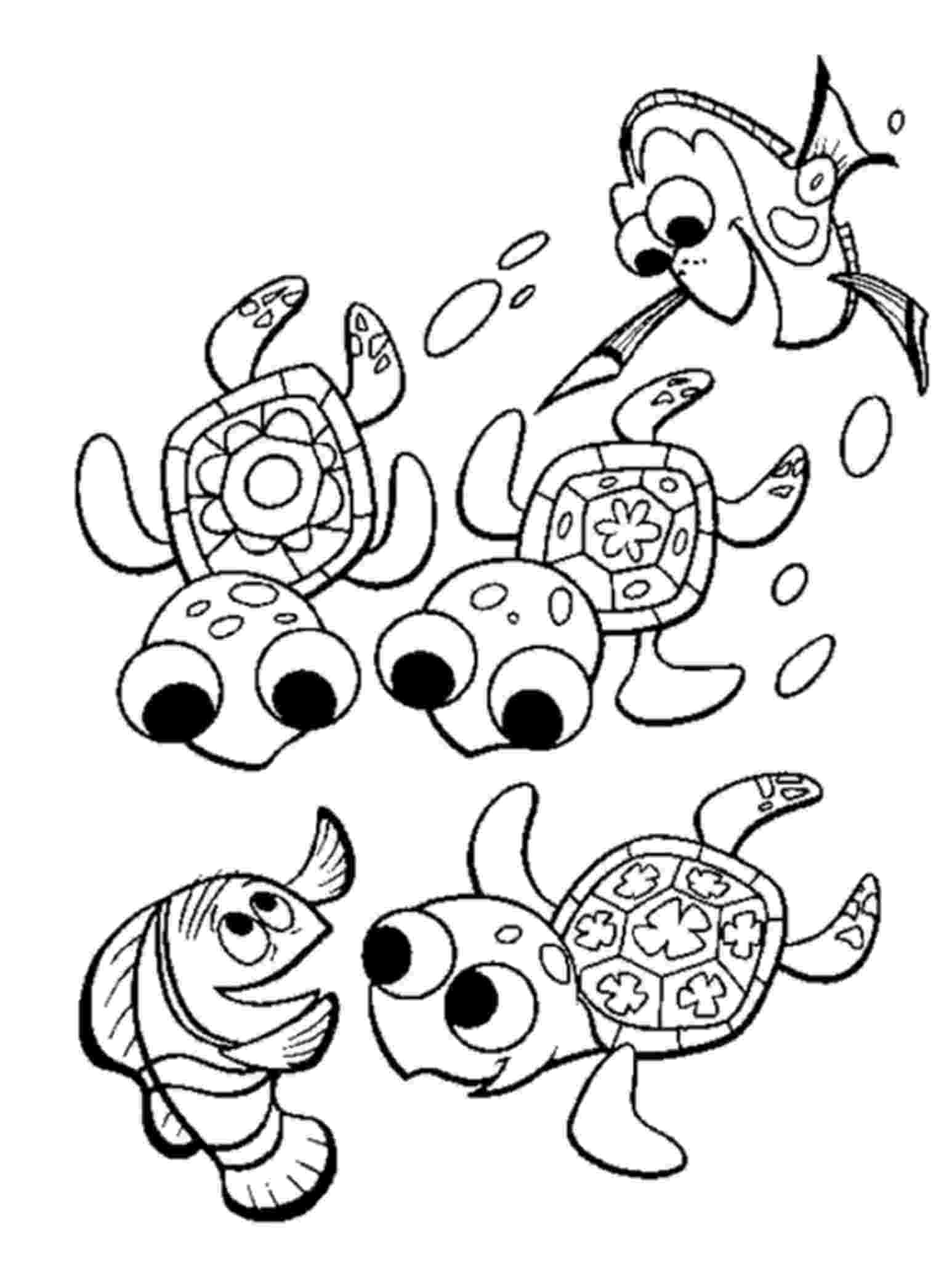 finding nemo coloring page print download turtle coloring pages as the nemo finding page coloring