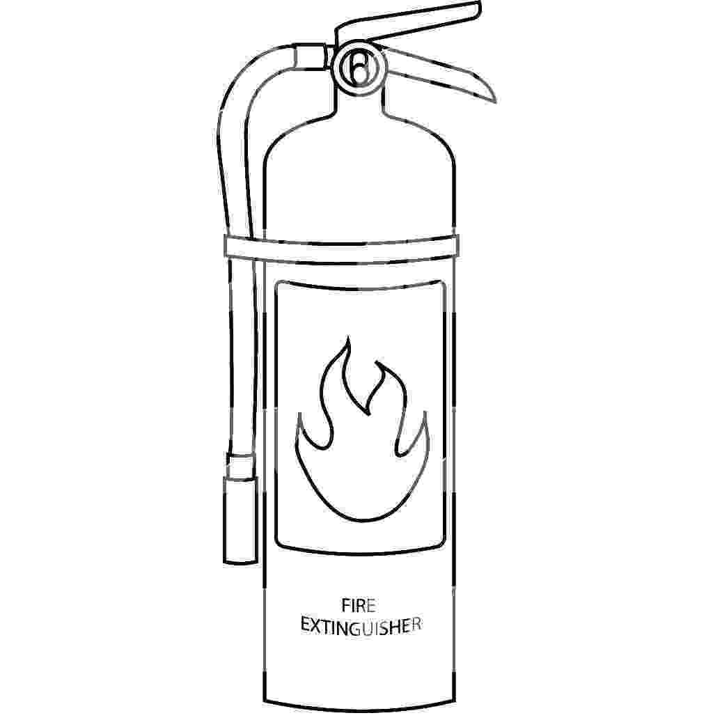 fire extinguisher coloring page fire extinguisher drawing at getdrawingscom free for coloring fire extinguisher page