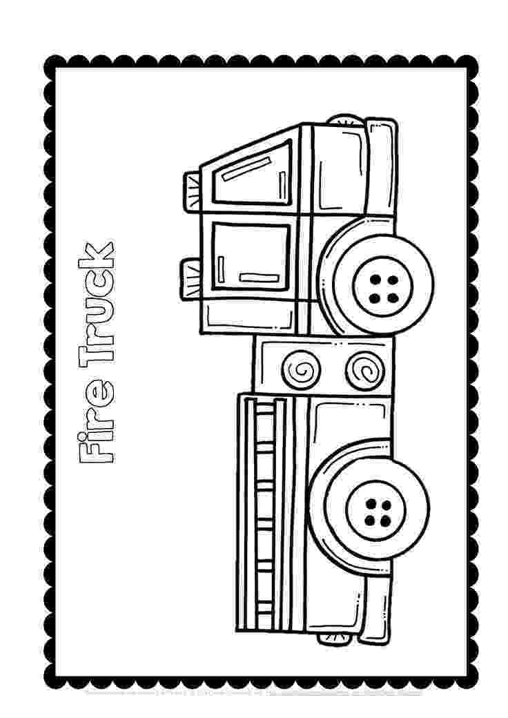 fire truck free printables fire truck bw reproducible pattern printable clip art printables free truck fire