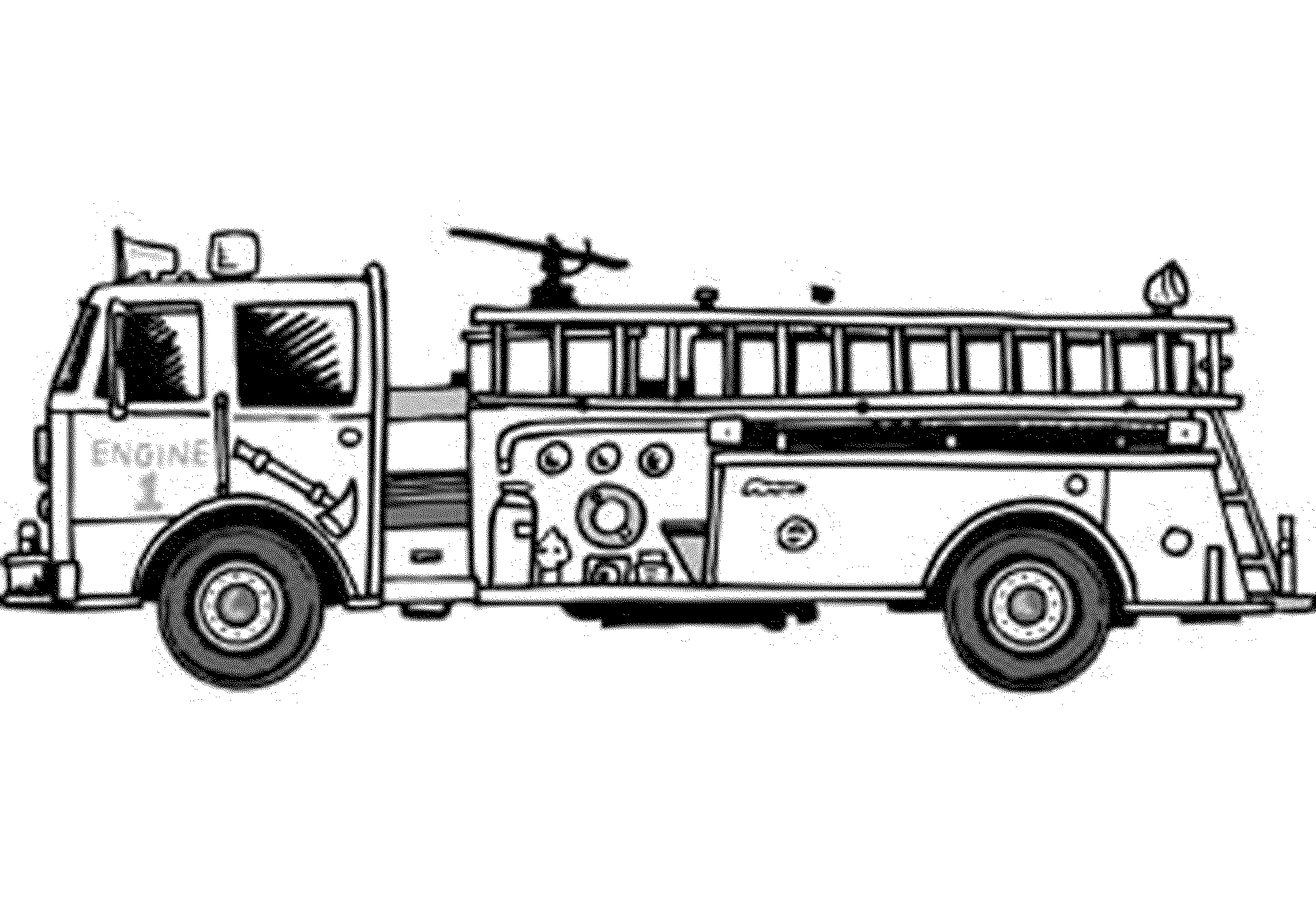 fire truck pictures coloring pages fire truck coloring pages getcoloringpagescom coloring pictures truck fire pages