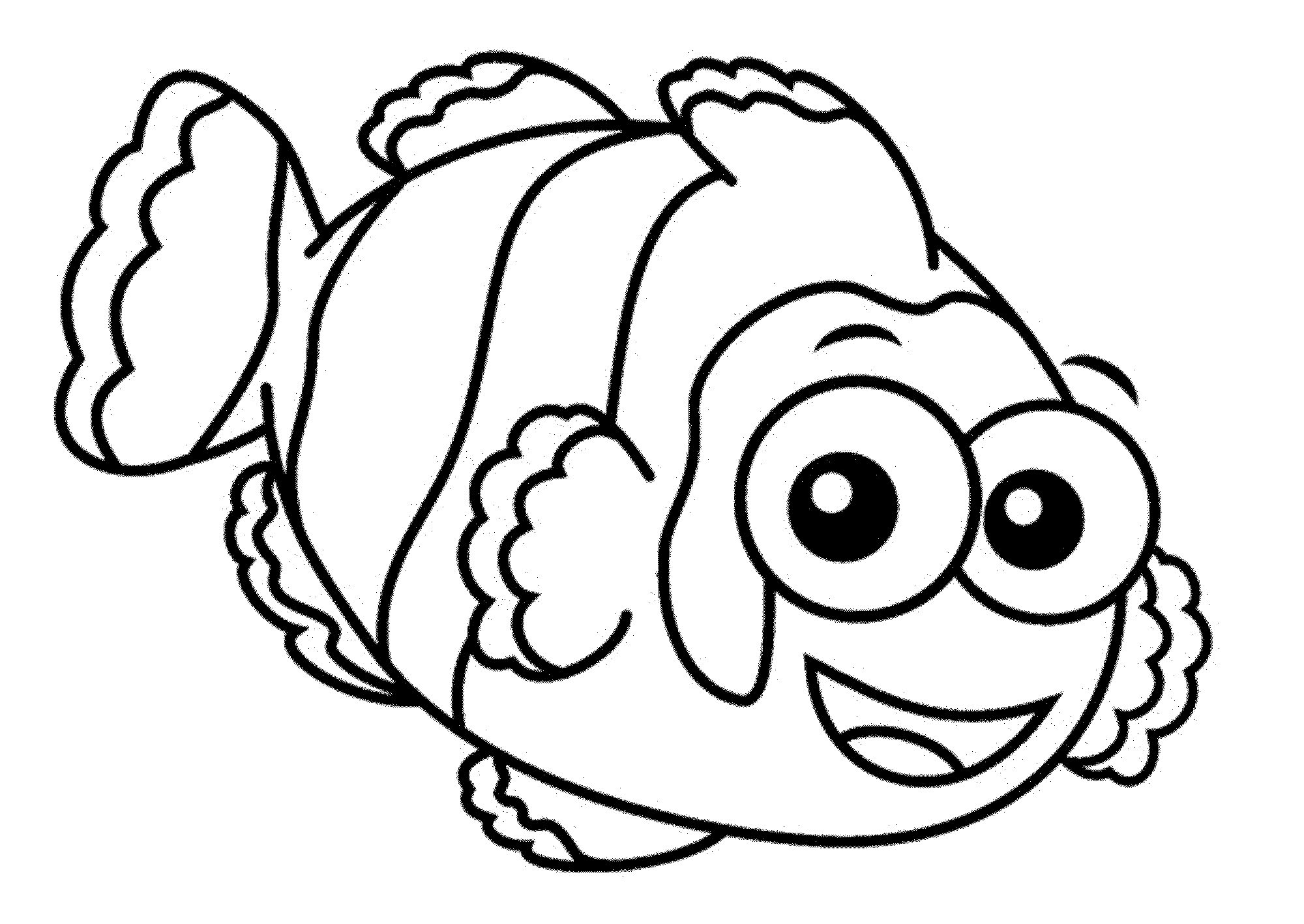 fish cartoon coloring pages easy coloring pages easy coloring pages fish coloring cartoon pages fish coloring