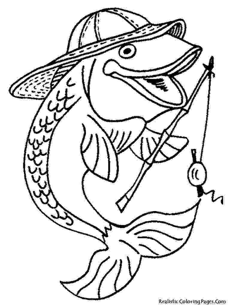 fish colouring book bass fish outline clipartioncom fish colouring book
