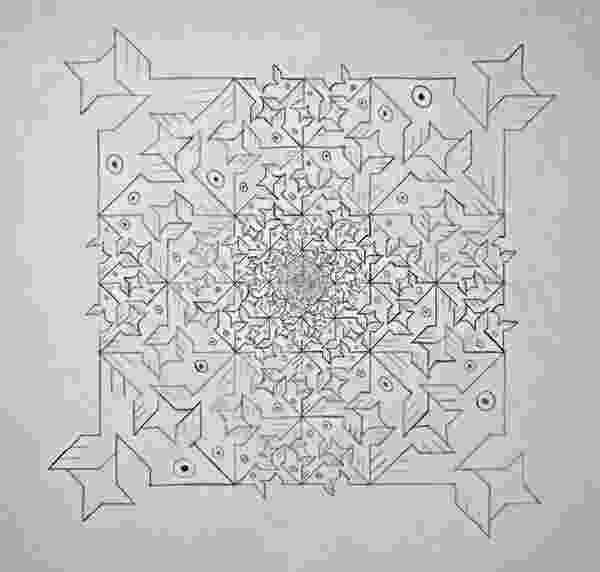 fish tessellation fish and birds art deco tessellation in the style of tessellation fish