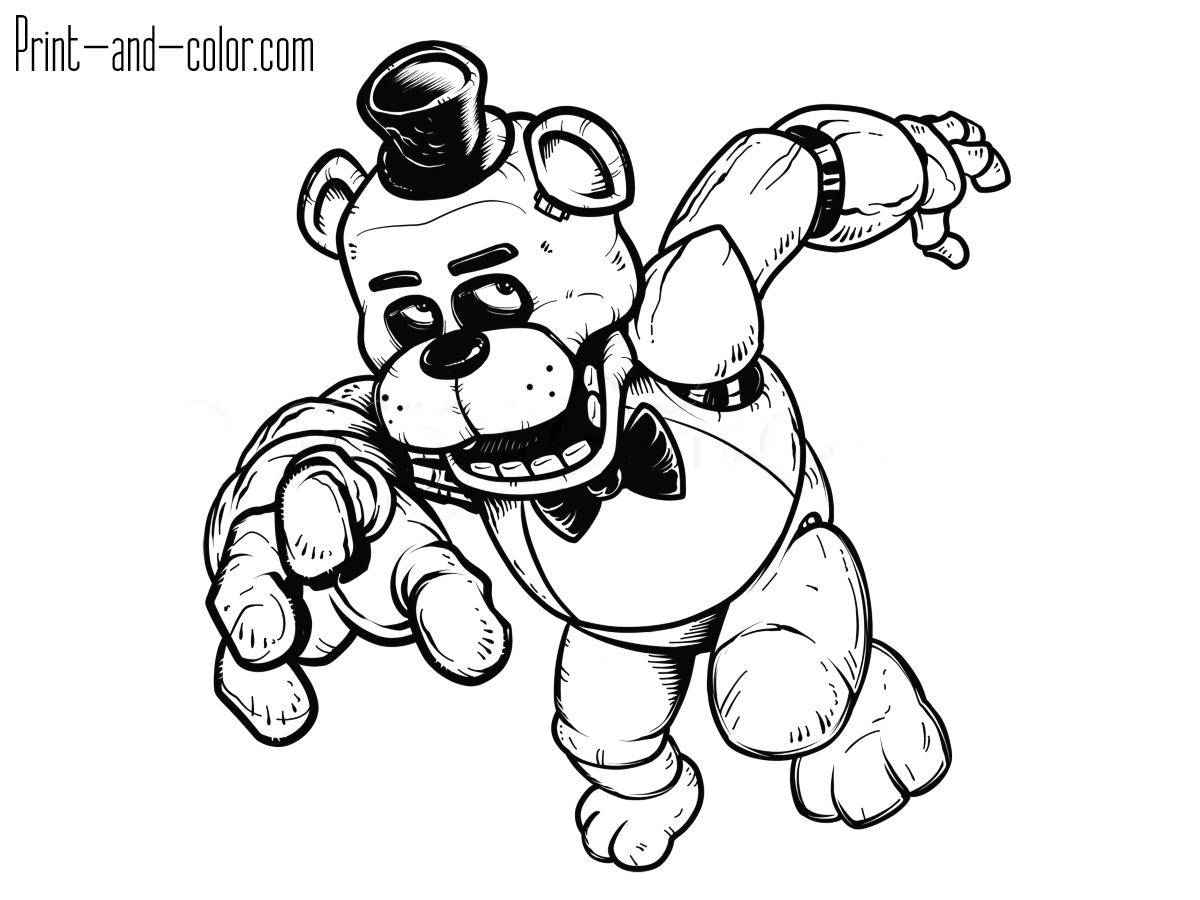 five nights at freddys pictures to print five nights at freddy39s coloring pages print and colorcom five to freddys print pictures nights at