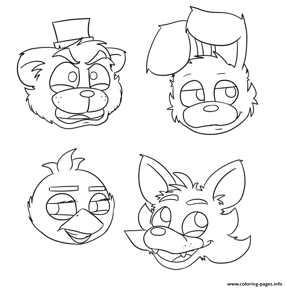 five nights at freddys pictures to print five nights at freddy39s coloring pages print and colorcom to freddys pictures print at five nights