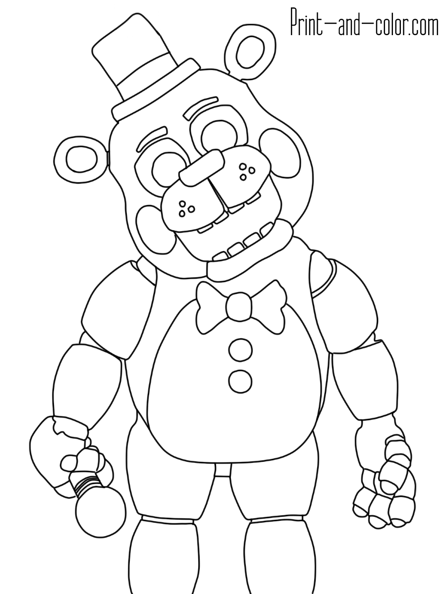 five nights at freddys pictures to print five nights at freddys coloring pages five nights at freddys print nights pictures to five at