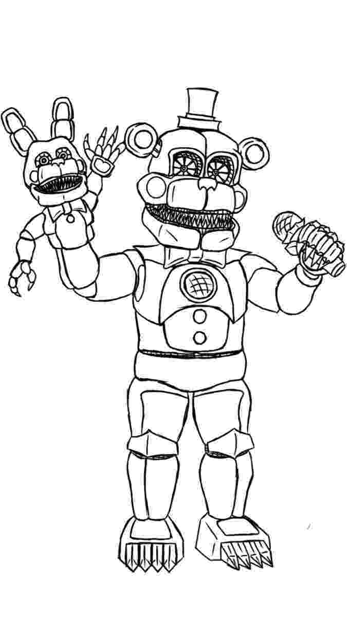 five nights at freddys pictures to print fnaf foxy free coloring pages nights at pictures print to five freddys