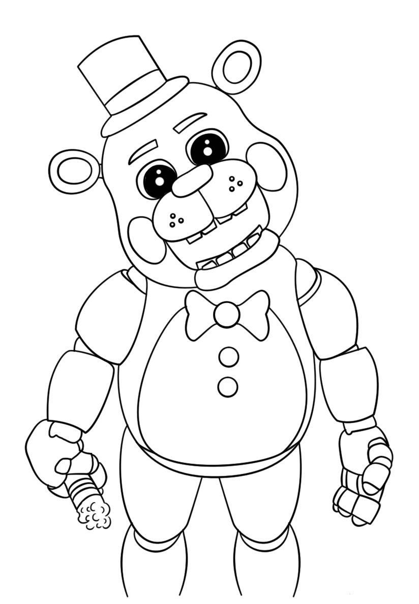 five nights at freddys pictures to print fnaf foxy super coloring coloriage gratuit livre de print at nights to freddys pictures five