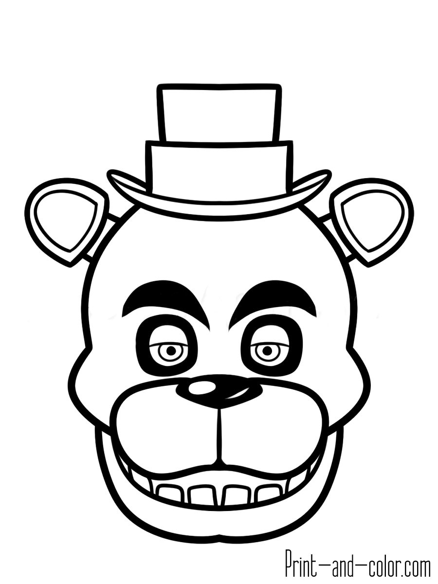 five nights at freddys pictures to print free printable five nights at freddy39s fnaf coloring pages print at pictures freddys nights five to