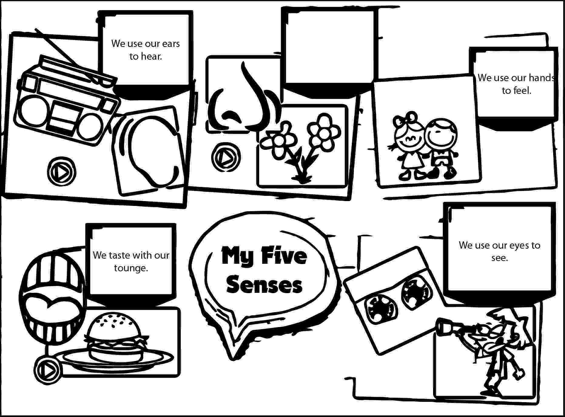 five senses coloring pages 5 senses worksheets homeschooldressagecom coloring five senses pages
