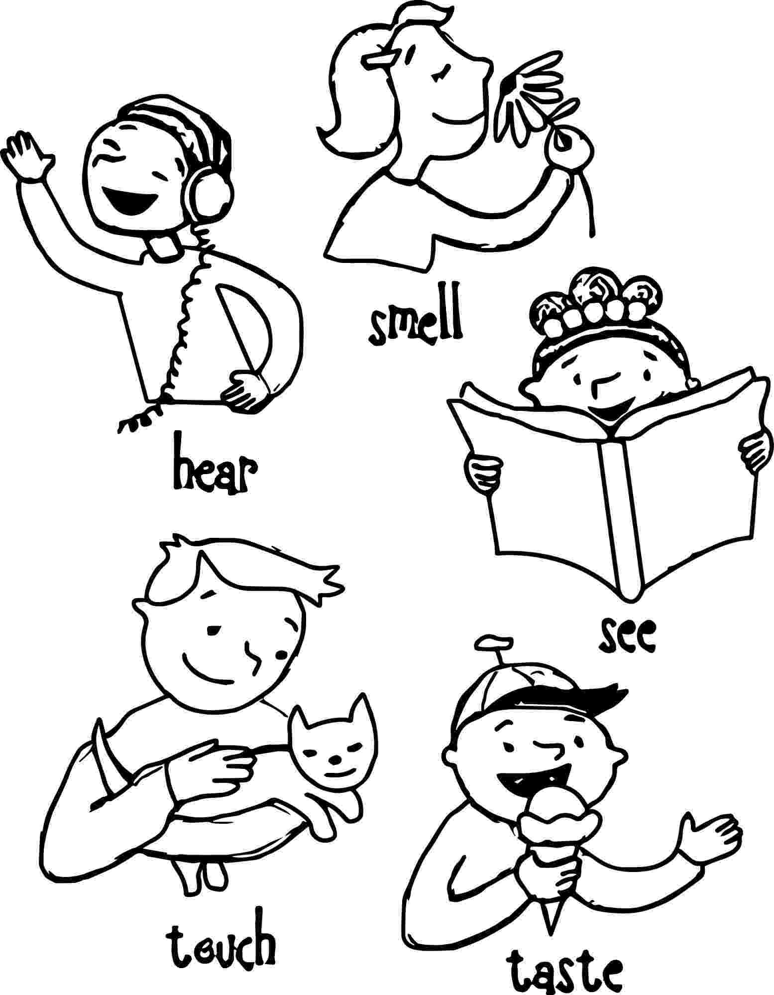 five senses coloring pages five senses coloring pages coloring home pages coloring senses five