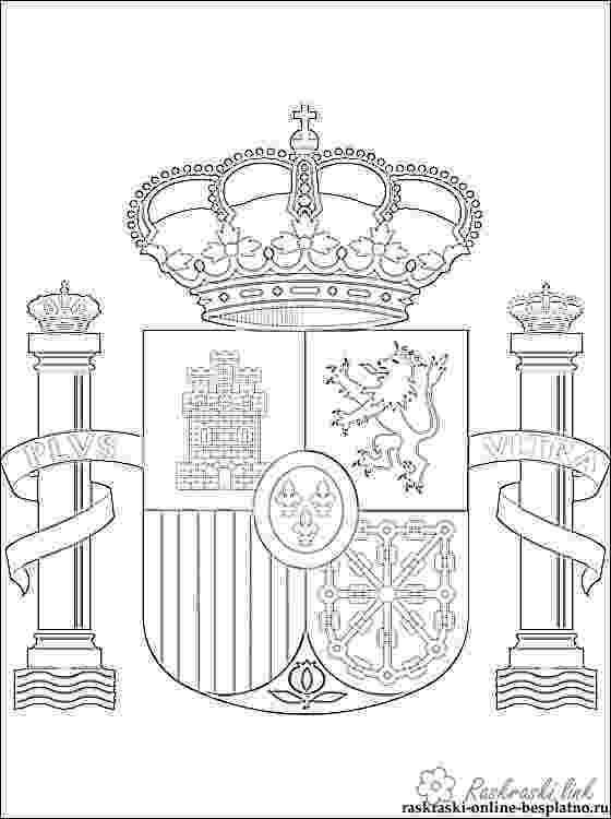 flag of spain coloring page flags of spanish speaking countries coloring sheets by of spain page coloring flag