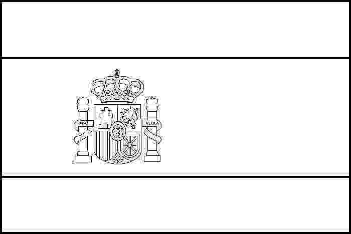 flag of spain coloring page pin by muse printables on coloring pages at coloringcafe flag spain coloring of page