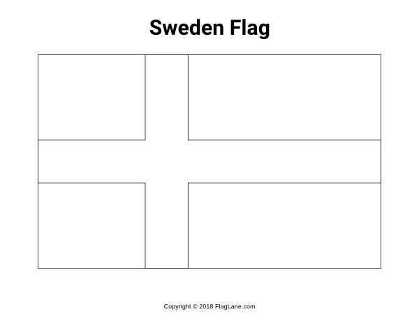 flag of sweden to color free sweden flag coloring page of to color sweden flag