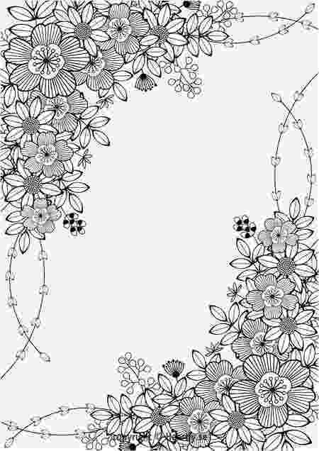 floral designs coloring book adult coloring page border free printable flowers floral book coloring floral designs