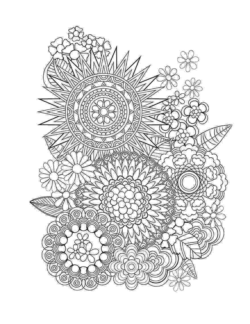 floral designs coloring book beautiful flowers detailed floral designs coloring book coloring book floral designs