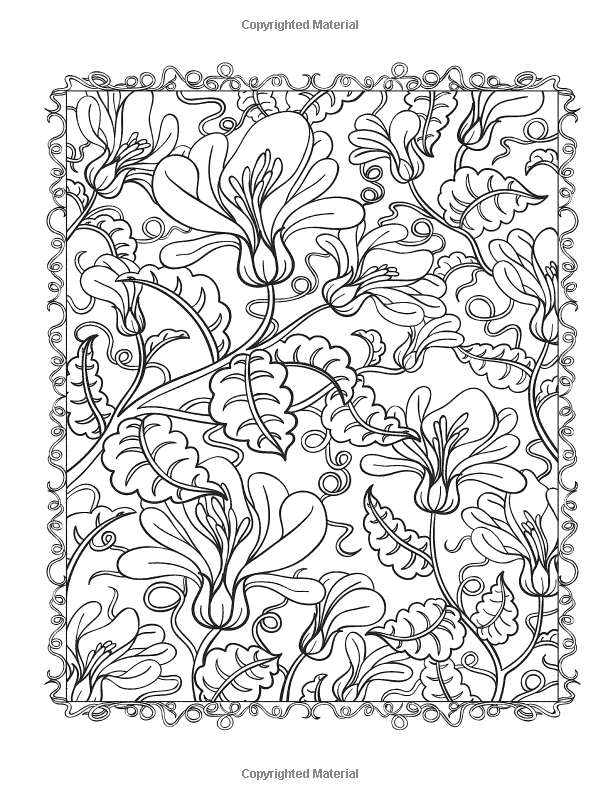 floral designs coloring book beautiful flowers detailed floral designs coloring book coloring designs floral book