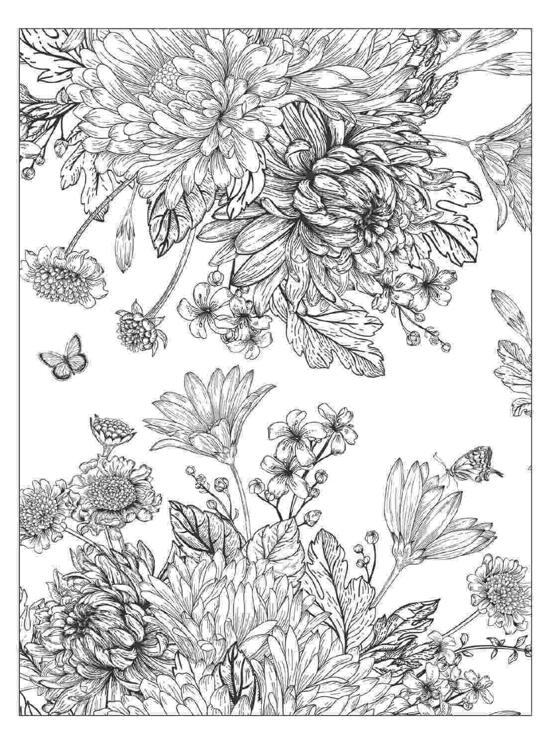 floral designs coloring book beautiful flowers detailed floral designs coloring book coloring floral designs book