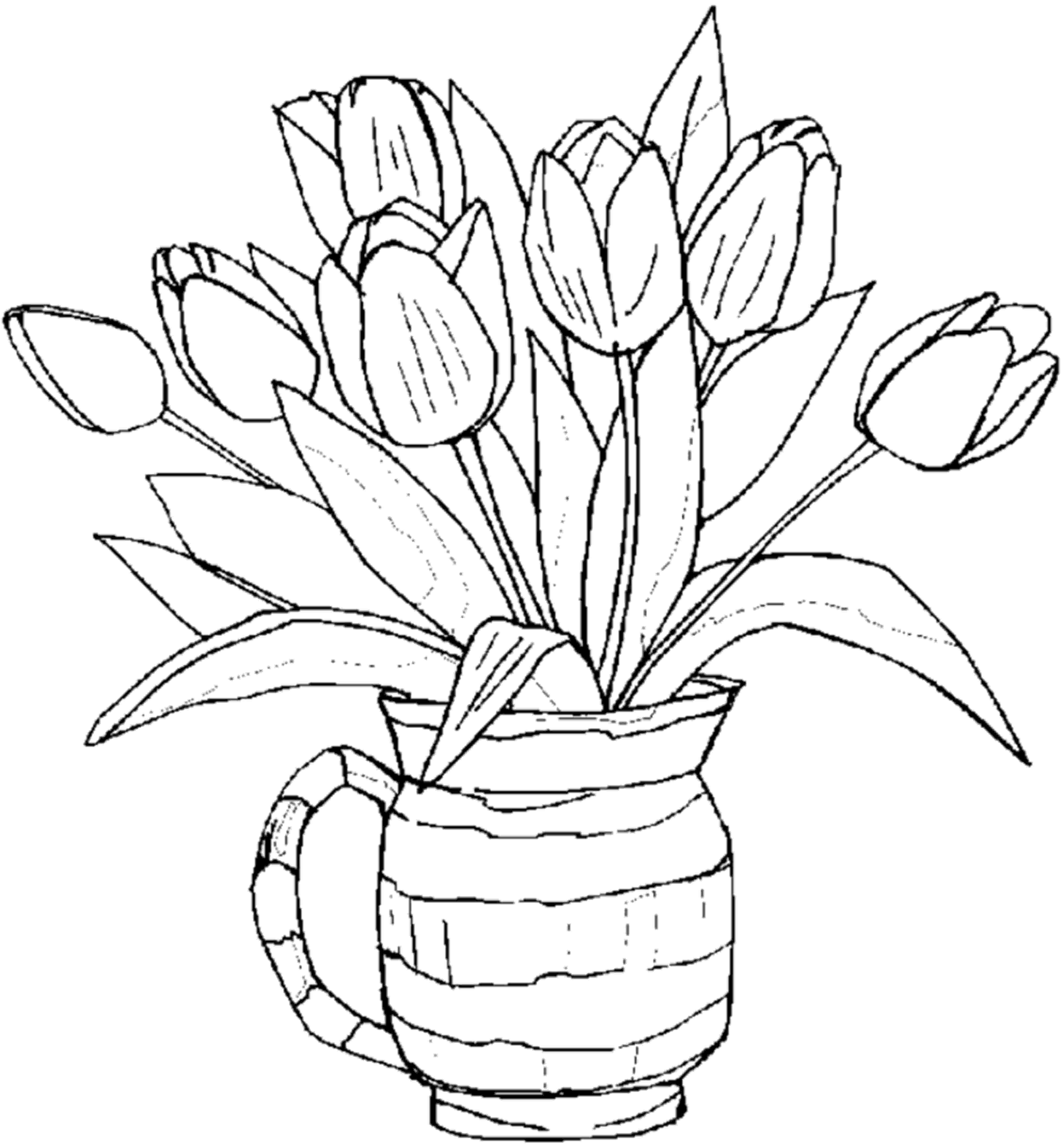 flower coloring book colouring pages bouquet flowers printable free for kids coloring flower book