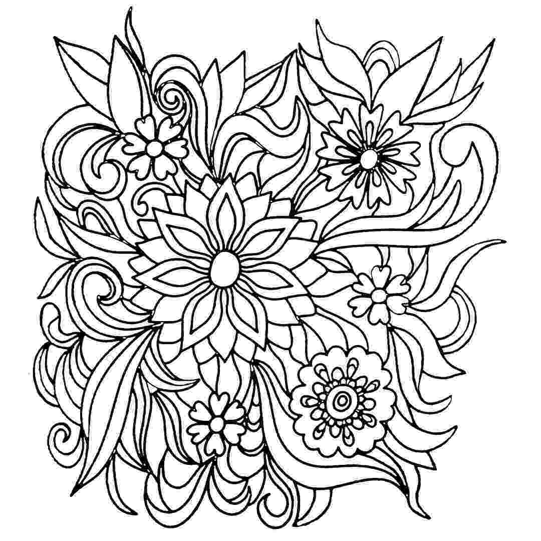 flower coloring book free printable flower coloring pages for kids cool2bkids flower book coloring 1 1