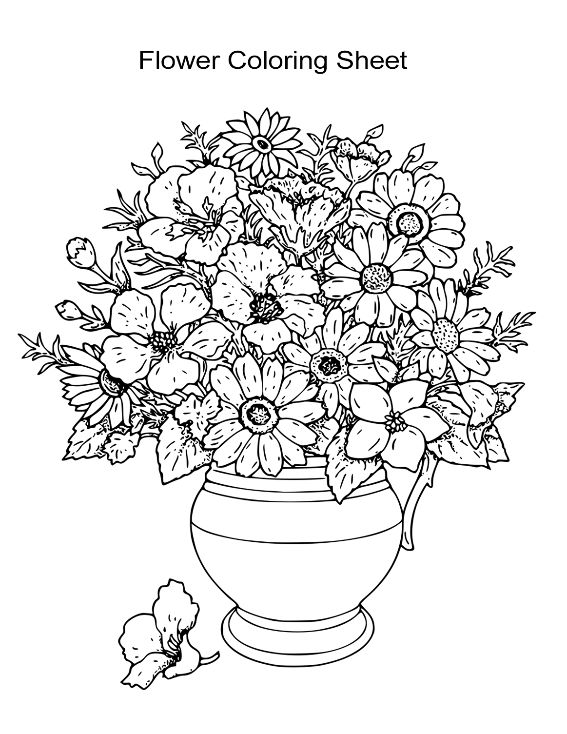 flower coloring books free printable flower coloring pages for kids best flower coloring books 1 1