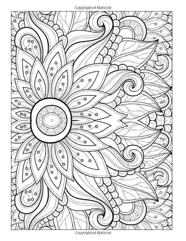 flower coloring design detailed flower coloring pages to download and print for free design flower coloring