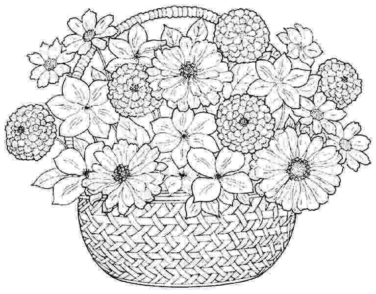 flower coloring pages for girls coloring pages bouquet flowers free printable for girls pages coloring girls for flower