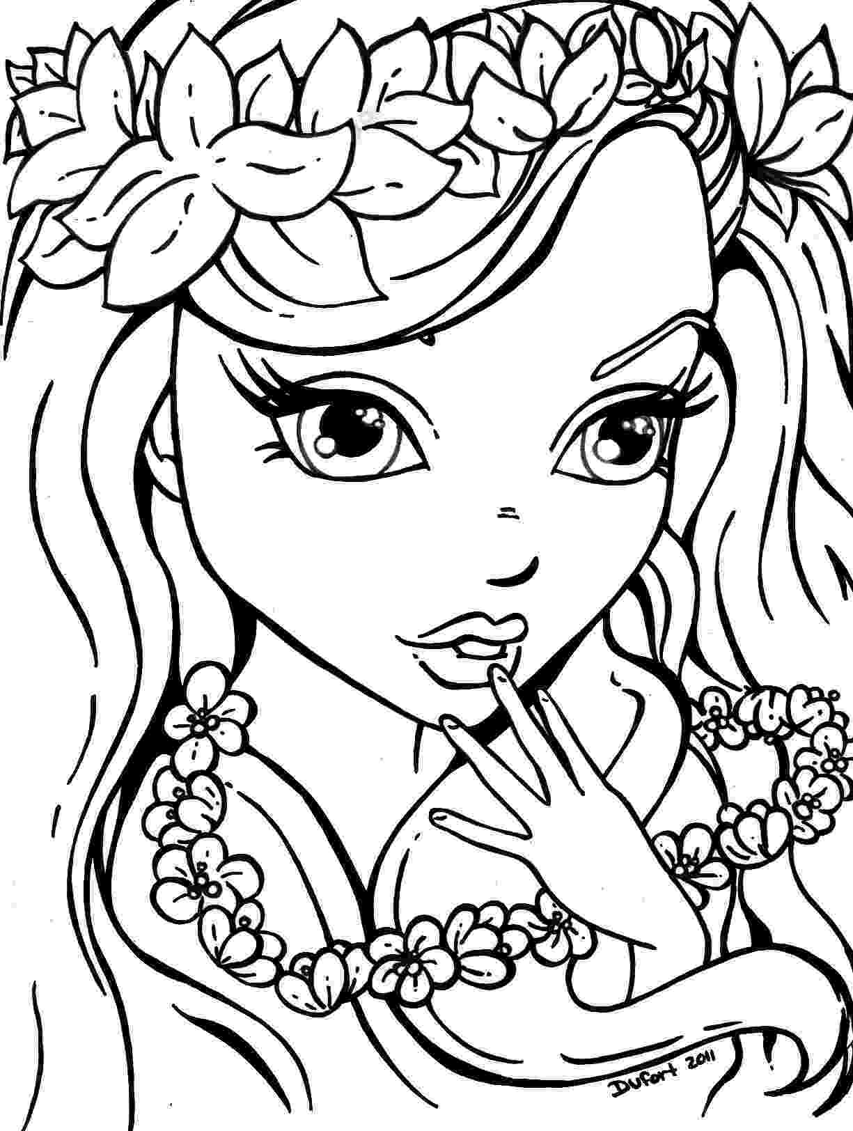 flower coloring pages for girls flowersgirl girls only coloring pages pinterest girls for coloring flower pages