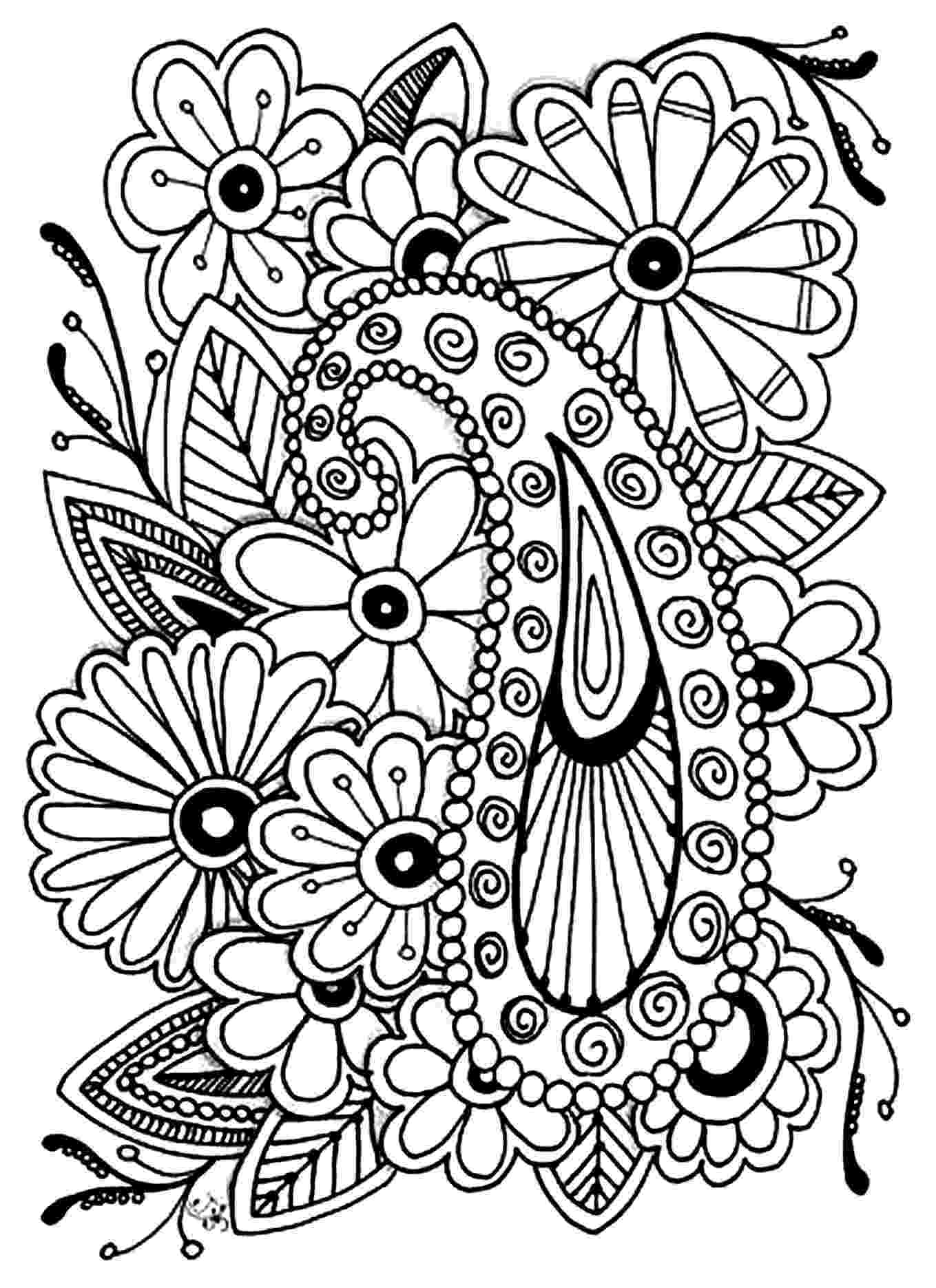 flower coloring patterns detailed flower coloring pages to download and print for free flower coloring patterns