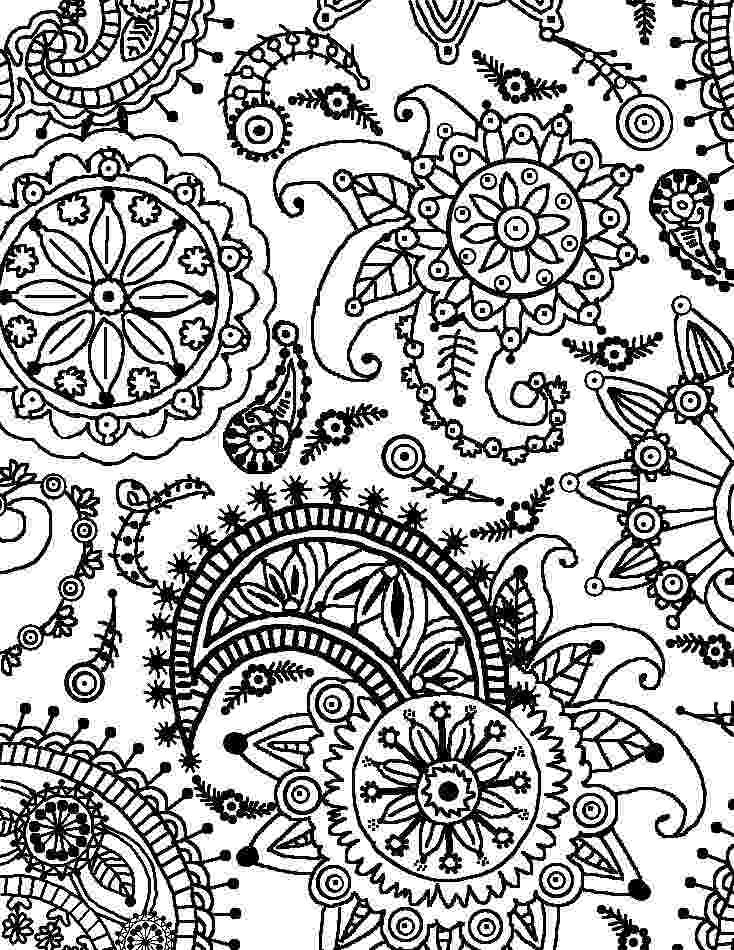 flower coloring patterns flowers with paisley patterns coloring page free coloring patterns flower