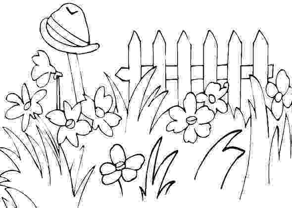 flower garden colouring picture 17 best images about gardening coloring pages on pinterest colouring garden picture flower
