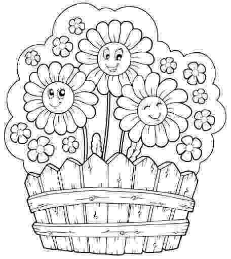 flower garden colouring picture bunnies in the flower garden coloring page garden flower colouring picture