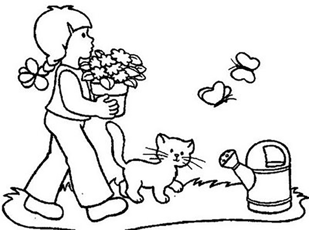 flower garden colouring picture flower garden coloring pages printable at getcoloringscom garden picture colouring flower
