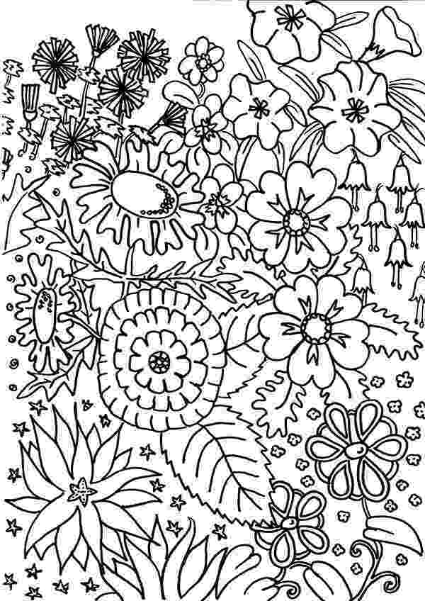 flower garden colouring picture flower garden coloring pages to download and print for free garden colouring picture flower