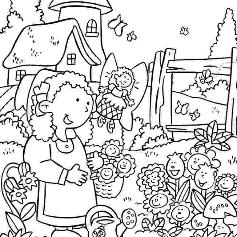 flower garden colouring picture flower garden coloring pages to download and print for free garden flower colouring picture