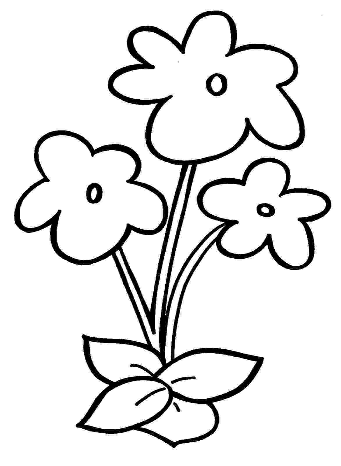 flower images to color flowers free to color for kids flowers kids coloring pages flower to images color
