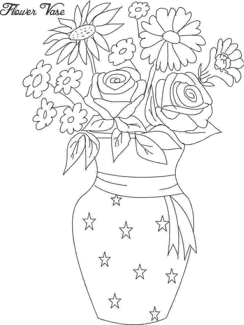 flower pot coloring page daisy flower pot coloring page download free daisy pot flower coloring page