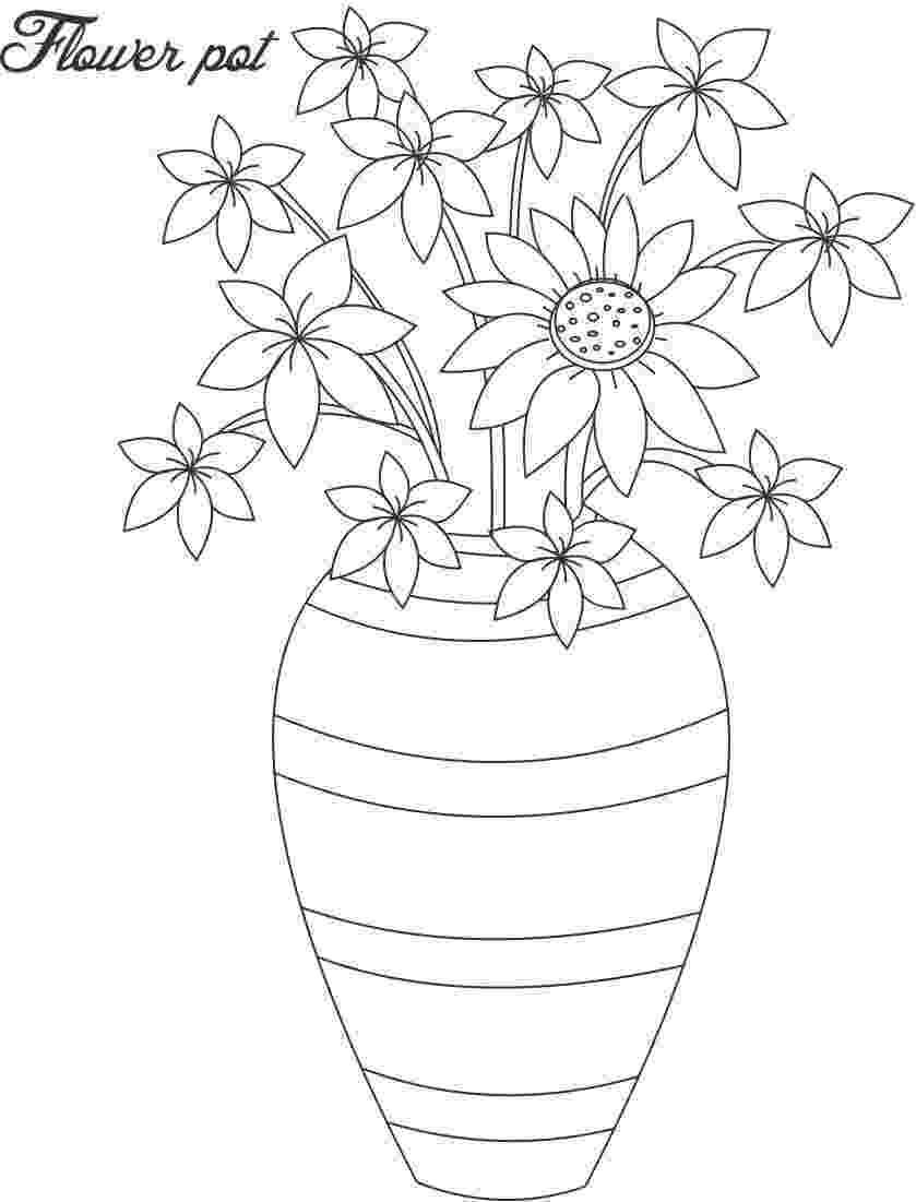 flower pot coloring page flower pot coloring page flower coloring page coloring flower pot page