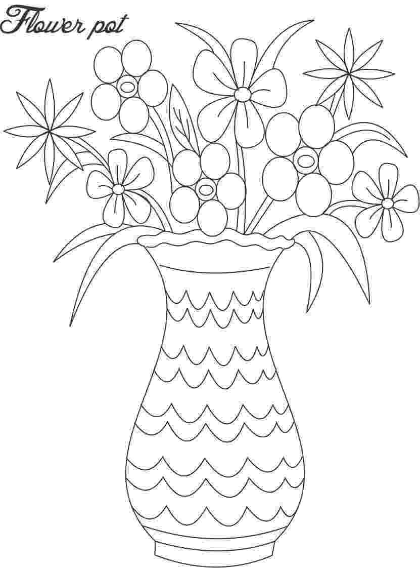 flower pot coloring page flower pot coloring pages coloring pages to download and pot page coloring flower