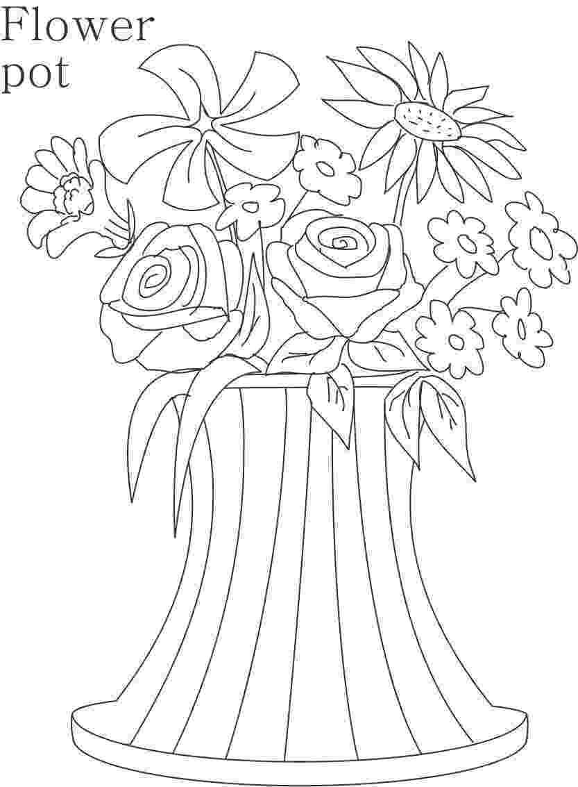 flower pot coloring page flower pot coloring pages getcoloringpagescom coloring page pot flower