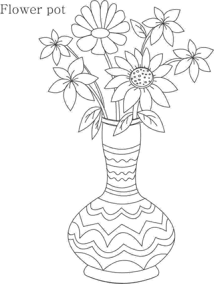 flower pot coloring page flower pot coloring pages getcoloringpagescom page coloring pot flower