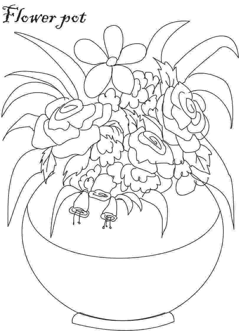 flower pot coloring page flower pot coloring printable page for kids 1 coloring pot flower page