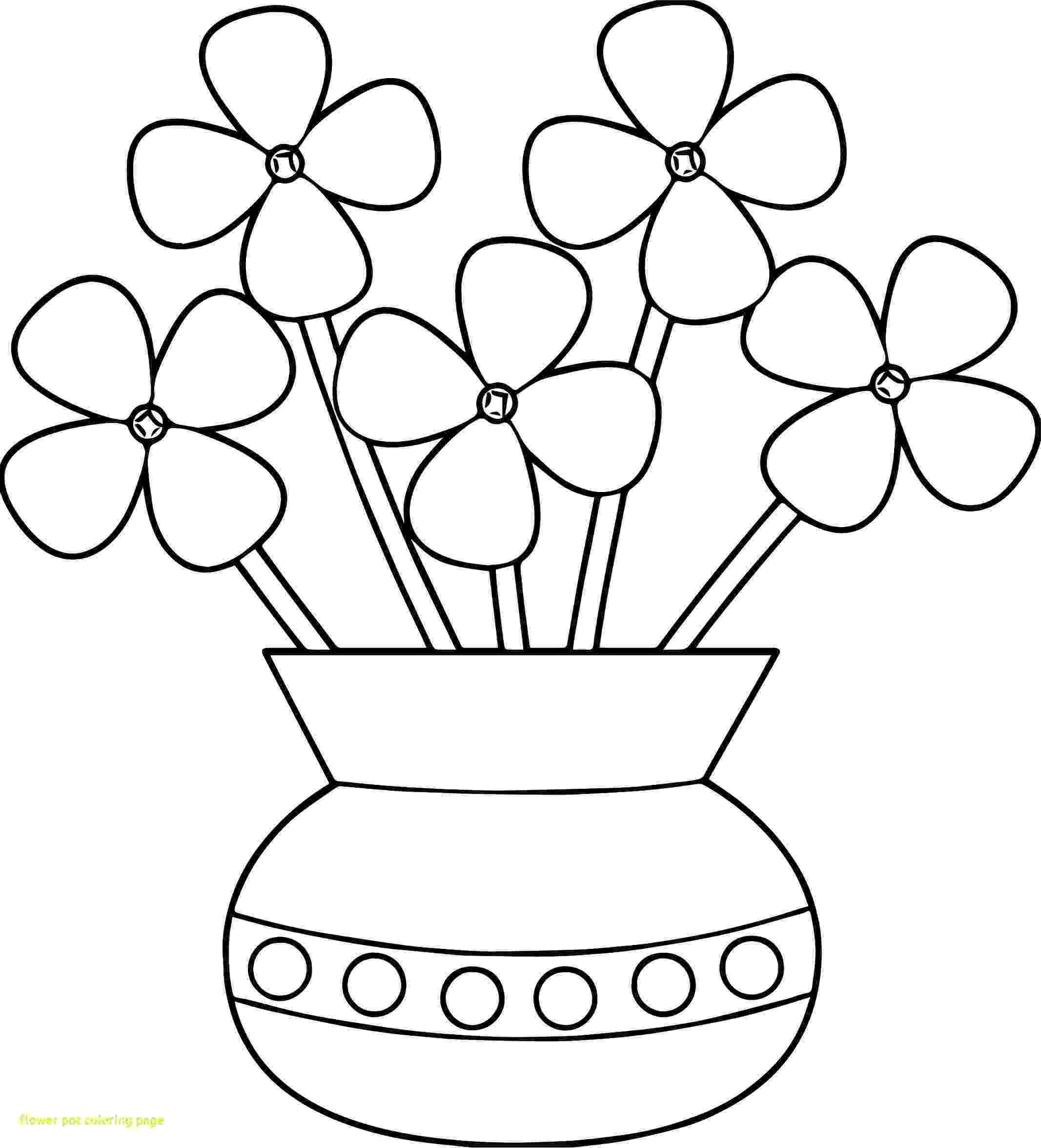 flower pot coloring page flower pot coloring printable page for kids 13 coloring page pot flower