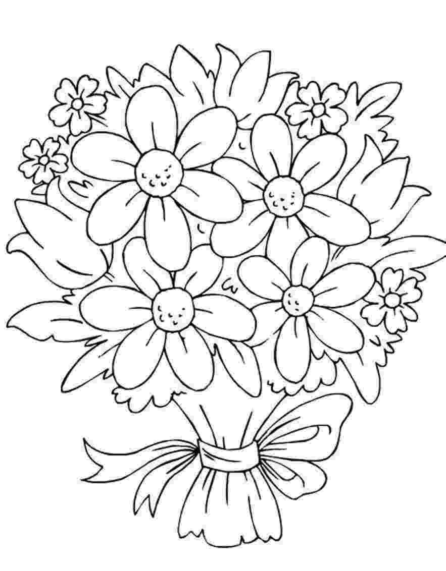 flowers coloring pages for kids free printable flower coloring pages for kids best for pages kids coloring flowers 1 1
