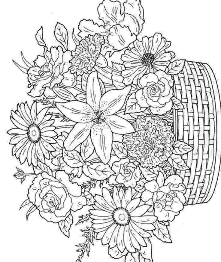 flowers printable coloring pages adult coloring pages flowers to download and print for free flowers printable coloring pages